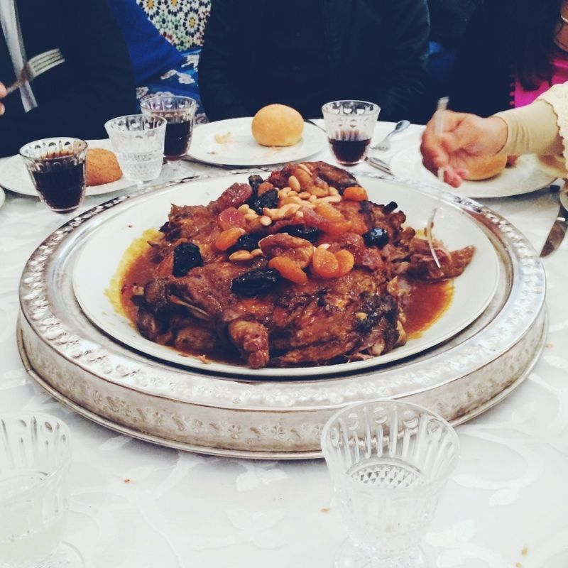 The lamb tagine with apricots, dates, and almonds that started my whole obsession.