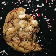 White Chocolate Peppermint Cookies with Vanilla Salt