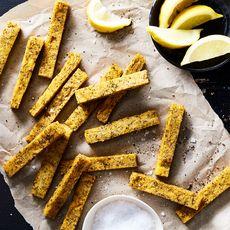 "Herb & Lemon Polenta ""Chips"" (""Fries"")"