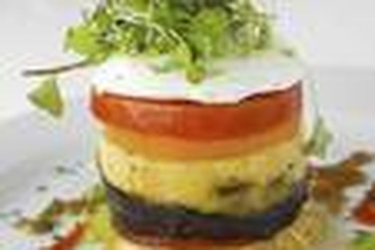 Lobster and Creamy Basil Custard Timbale