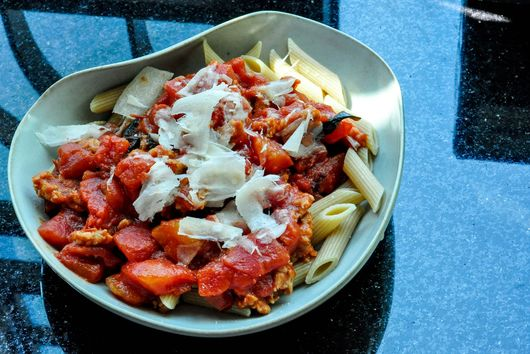 Lazy Lamb Ragout Wholewheat Penne
