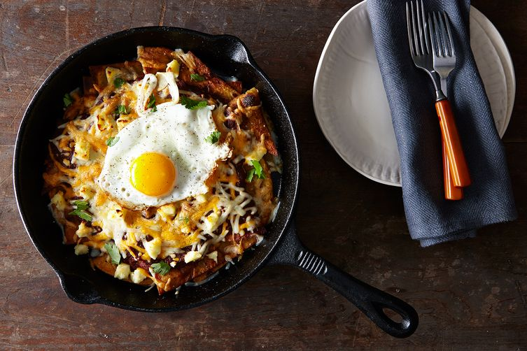 Red Chilaquiles with Fried Eggs Recipe on Food52