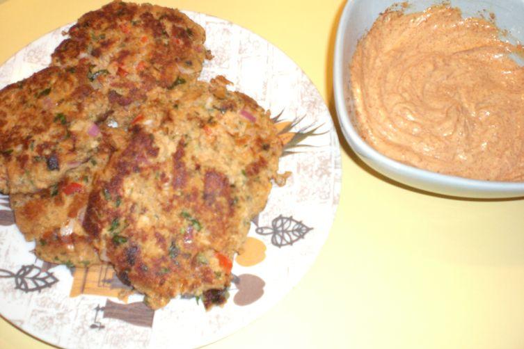 Cilantro Lime Salmon Cakes with Chipotle Mayo