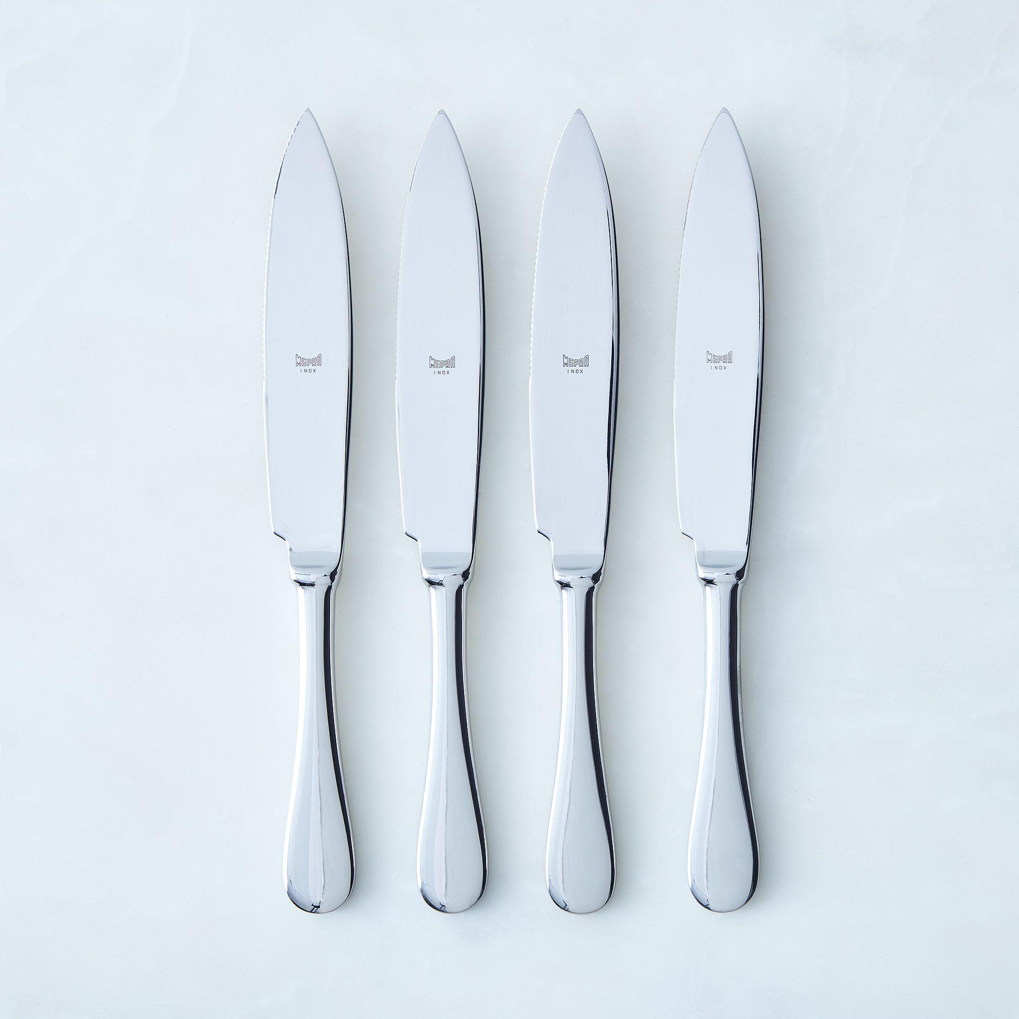5c521928 3bcc 44ec bf45 9c65c15a90e4  2017 0511 mepra steak knives set of 4 stainless steel shine detail silo rocky luten 006