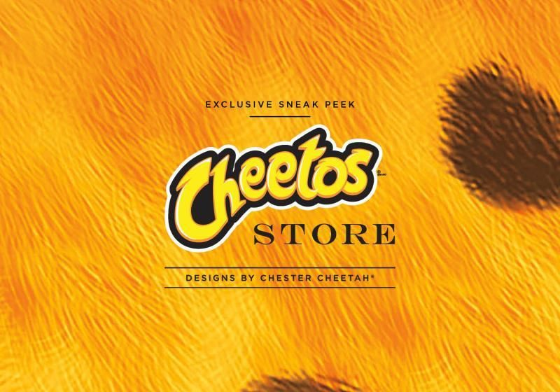 The front of the Cheetos Store Luxury Holiday Book. Wow!