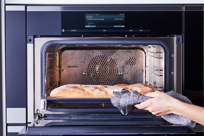 A Miele combi-steam oven makes harnessing the power of steam (and getting brown, crackly loaves) easy.