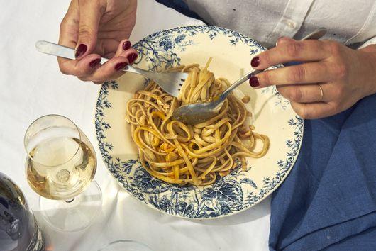 Camille Fourmont's Anchovy, Egg Yolk & Hazelnut Pasta