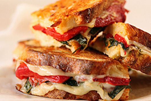 Roasted Red Pepper, Basil & Provolone Sandwiches