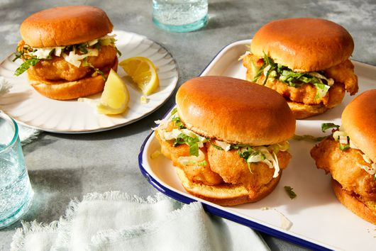 Crispiest Beer-Battered Fish Sandwiches
