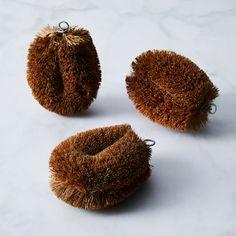 French Coconut Fiber Brush (Set of 3)