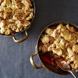 Spiced Plum Cobbler