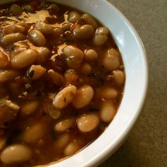 Minted Beans and Ham