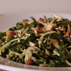 Creamy Crunchy Kale Avocado Slaw