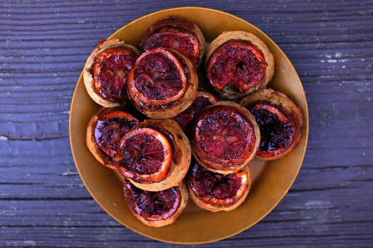 Blood Orange Upside-down Muffins