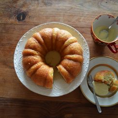 baba torta al la napolitana con crema pasticcera: {neapolitan rum cake}