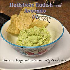 Hailstone Radish and Avocado Dip