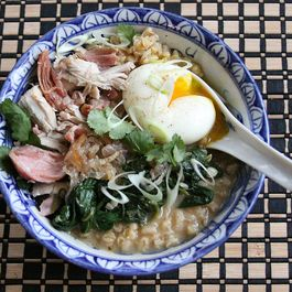 A Soulful Bowl-Full (Smoky Chicken and Barley Congee)