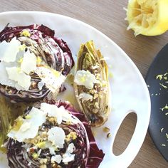 Grilled Radiccio & Endive Salad with Hazelnut Dressing
