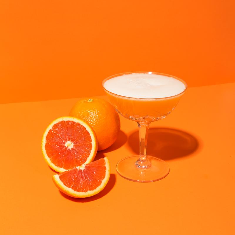 Cara Cara Orange Mezcal Sour.