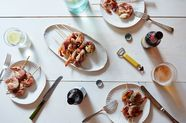 Mint and Prosciutto Grilled Shrimp