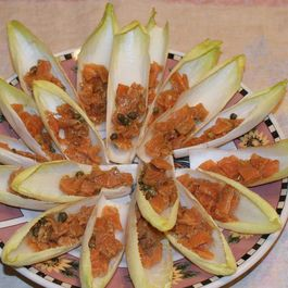 Endive with Salmon and Capers