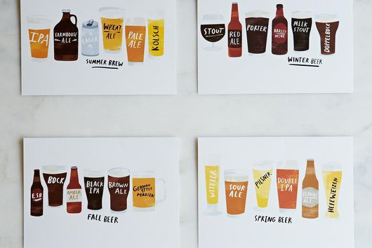 Seasonal Beer Cards (Set of 8)