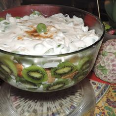 Rum-Flavored Fruit Trifle