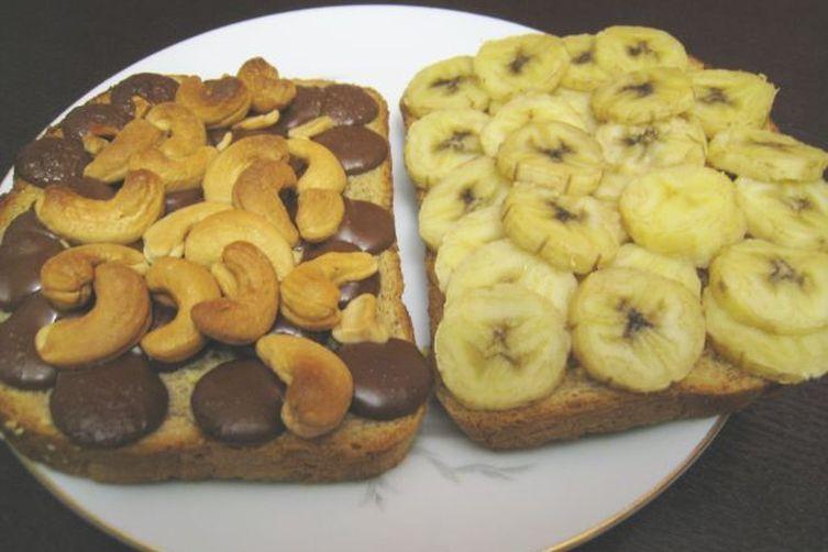 Banana Chocolate Cashew Panini