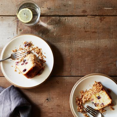 Blueberry Cake with Peanut Streusel