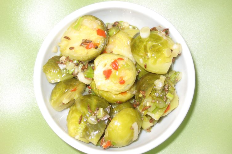 Revisited Brussel Sprouts with Tarragon Cider Vinegar