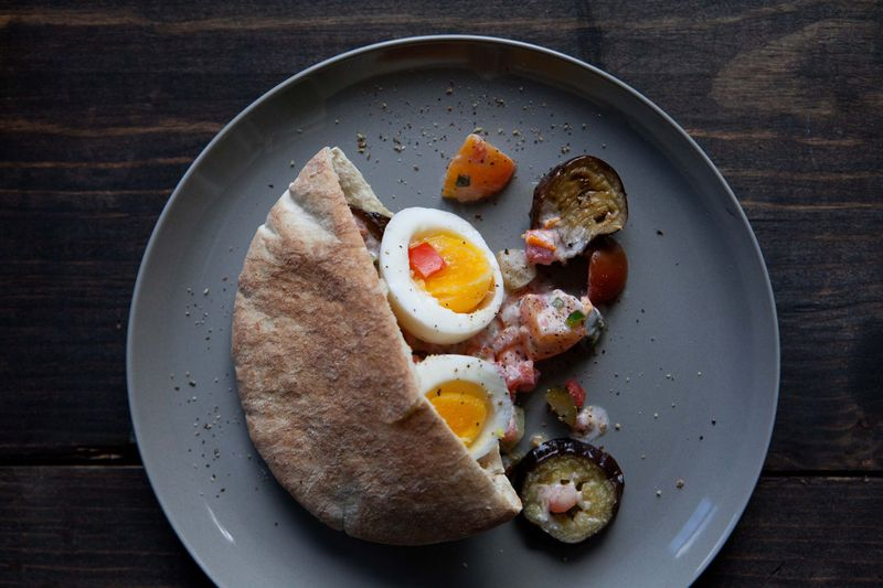 Egg and Eggplant Sandwich