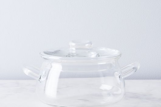 Borosilicate Glass Bean Pot with Lid, 1.5QT