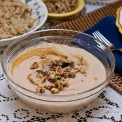 White Bean Puree with Sage Brown Butter and Walnuts