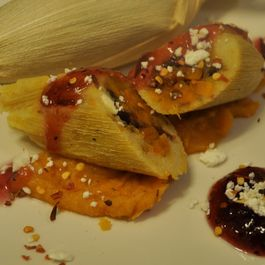 Sweet Potato and Cranberry Tamales