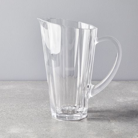 Faceted Crystal Pitcher
