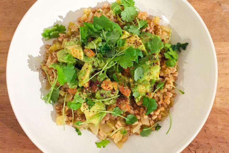 Avocado and Almond Risotto