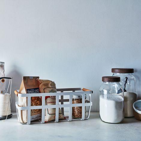Steel & Wood Storage Basket