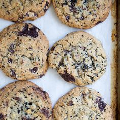 Dark Chocolate Chip Cookies with Pistachios and Black Sesame