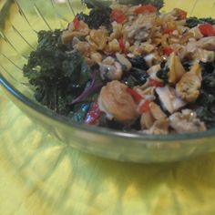 Wilted purple kale & chopped savory clams