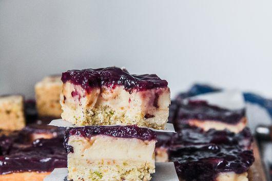 Caramel Custard Blueberry Bars
