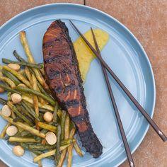 Japanese-Style Yuzu-Ponzu Grilled Salmon