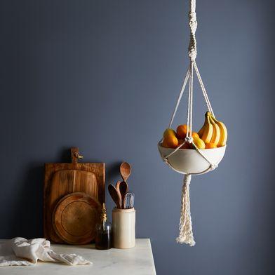 Macrame & Ceramic Hanging Bowl
