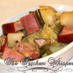 Crockpot Ham Potato Bean Cabbage Stoup