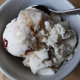 Amaretto Cherry Frozen Yogurt