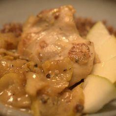 Chicken and Pears Braised in Lemon Mustard Sauce