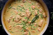 Salmon with a Thai Curry Sauce