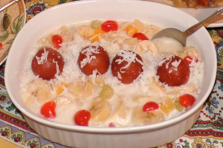 Heavenly Coconut Fruit Cream