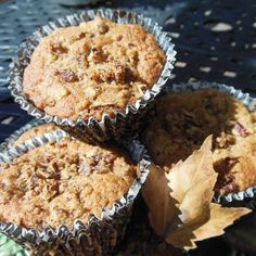 Autumn Apple Pecan Spice Cupcakes