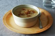 Pureed Parsnip and Cardamom Soup with Caramelized Shallots