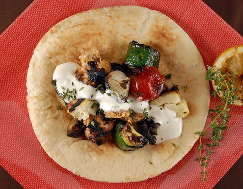 Shish Taouk with Toum (Garlic Sauce)